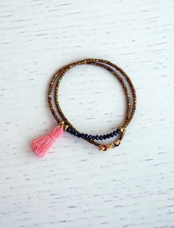 Double-tassel-bracelet