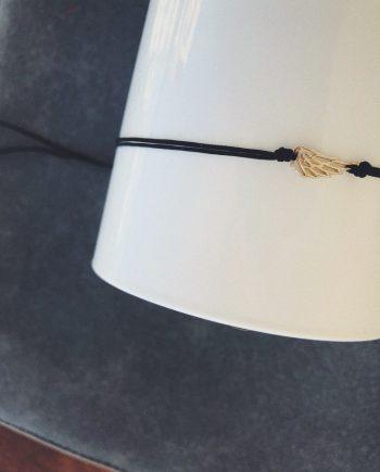 Silver wing tiny bracelet