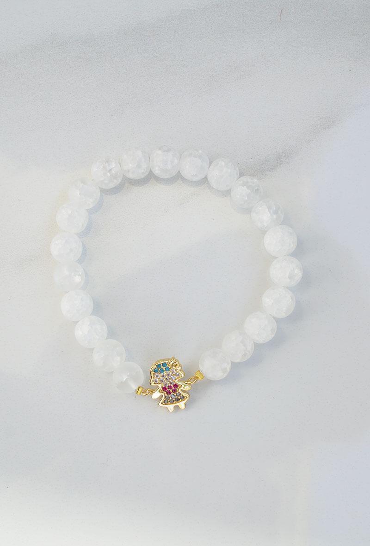 baby girl white bracelet