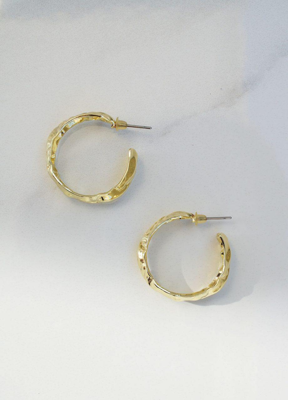 gold color hoops earrings