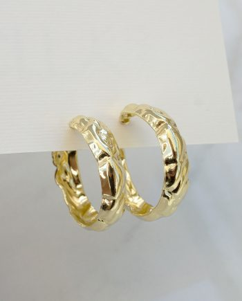 gold color hoops earrings