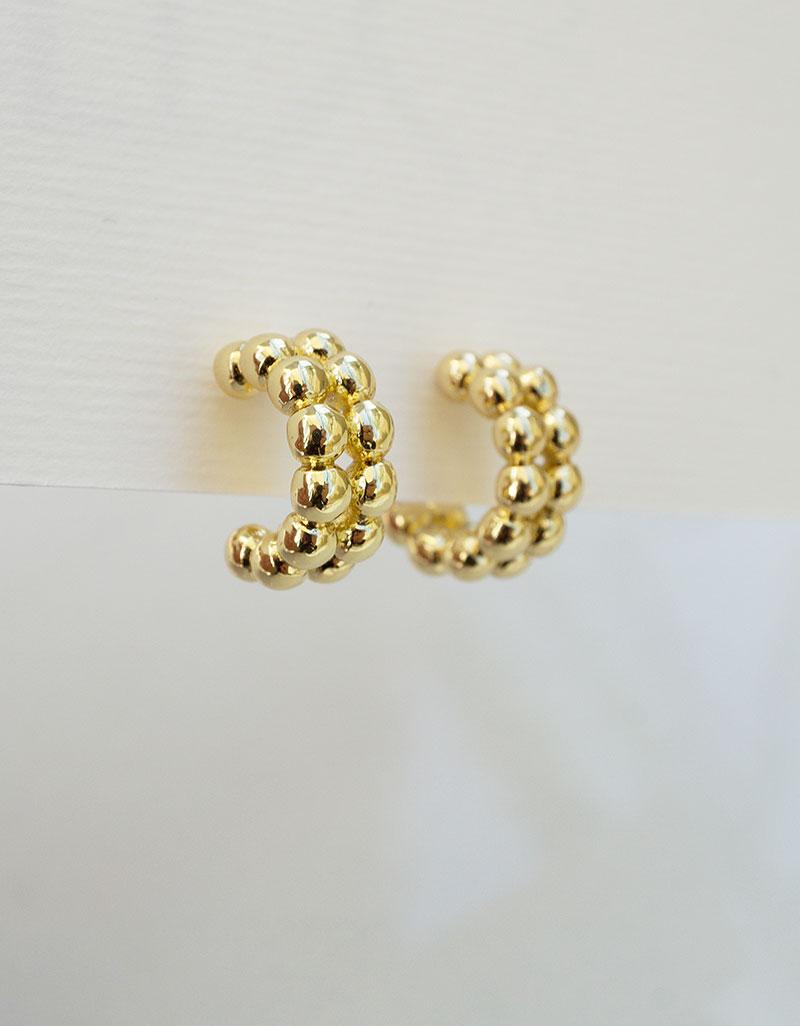 Chunky small hoop earrings