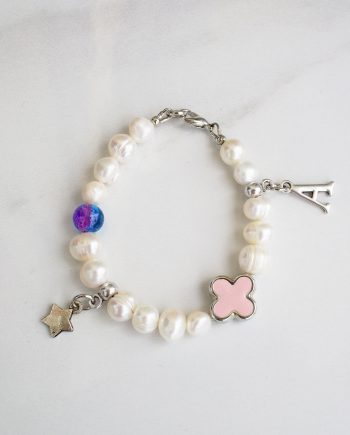 Baby girl bracelet made from pearls